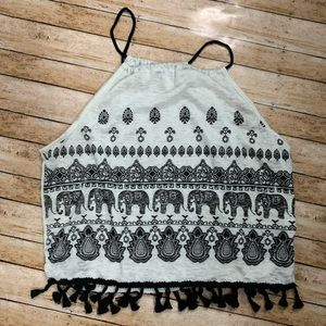 Loose fitting Tank top with tassels
